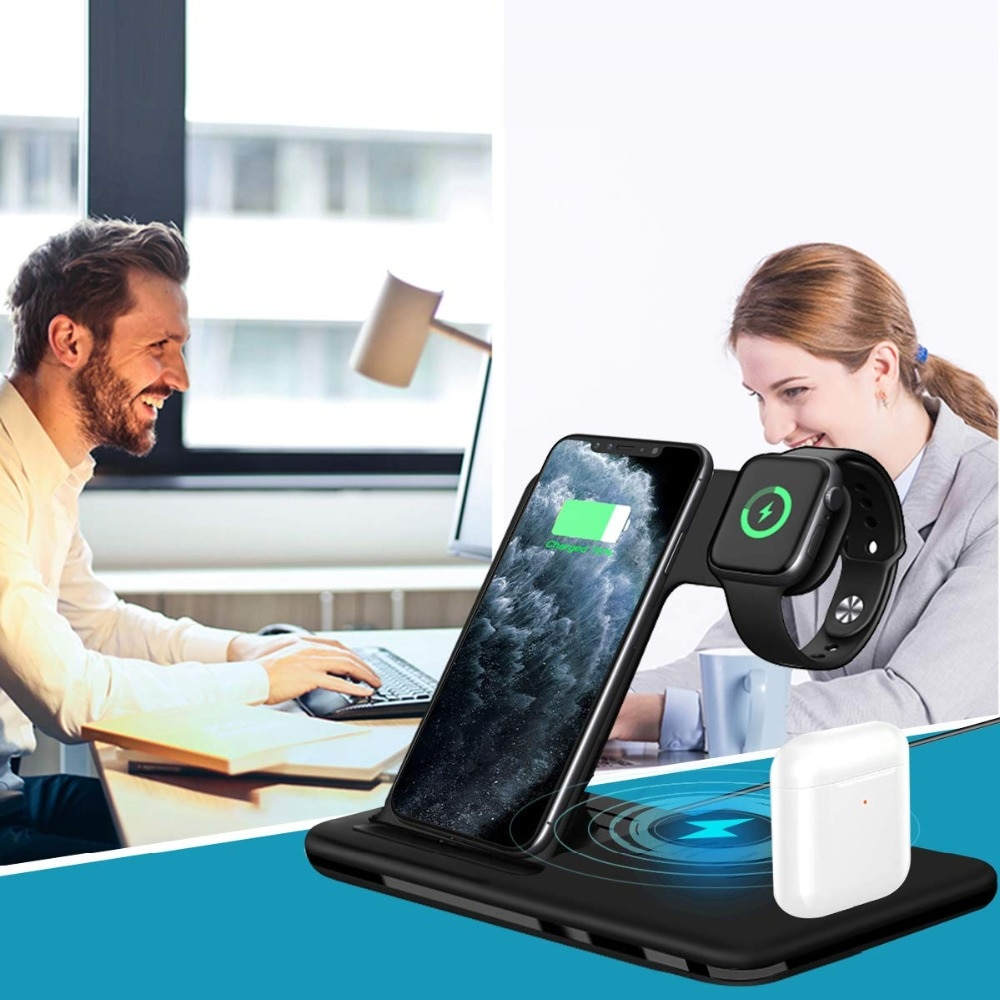 Foldable Fast Wireless Charger Stand For Phone and Watch